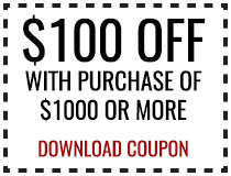 $100 OFF Purchase of $1000 or More