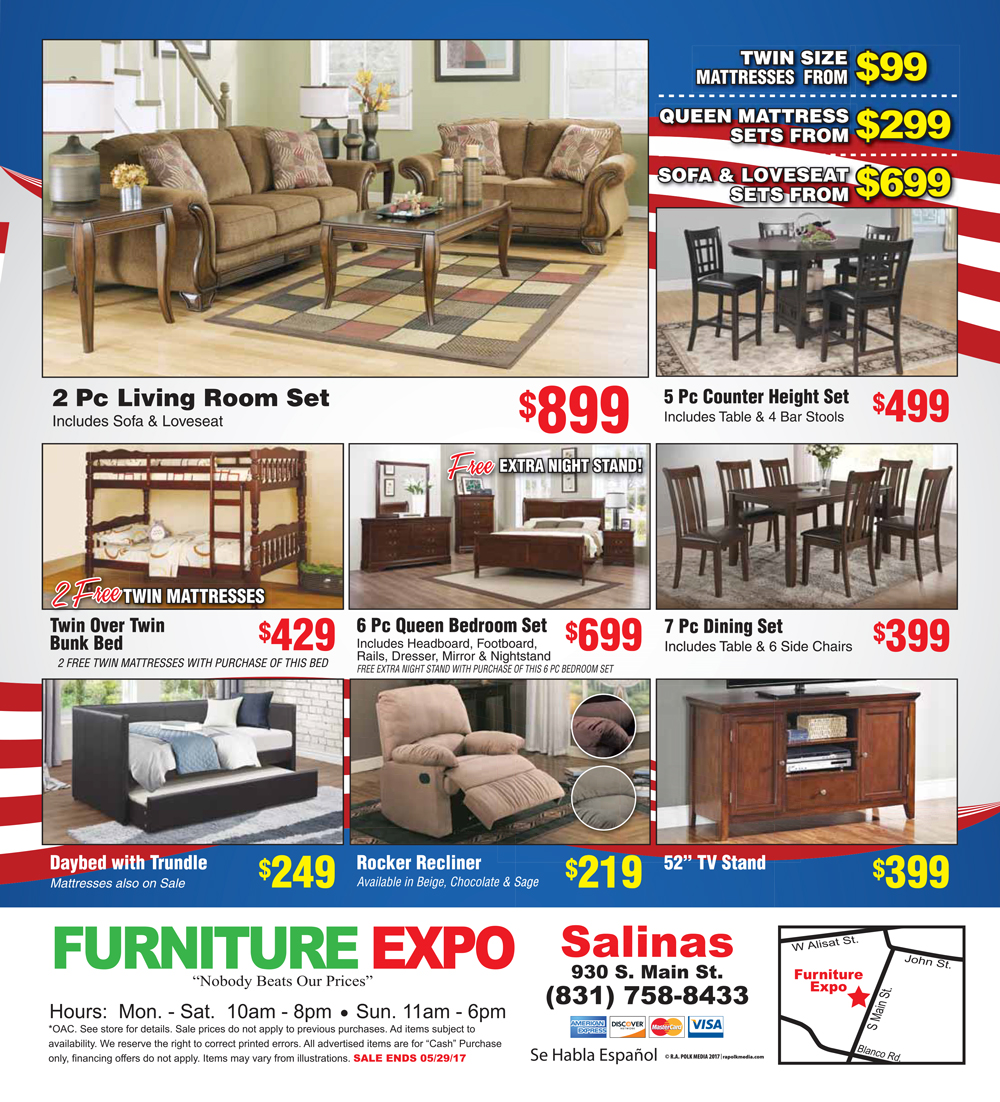 Memorial Day Sale Furniture Expo Salinas